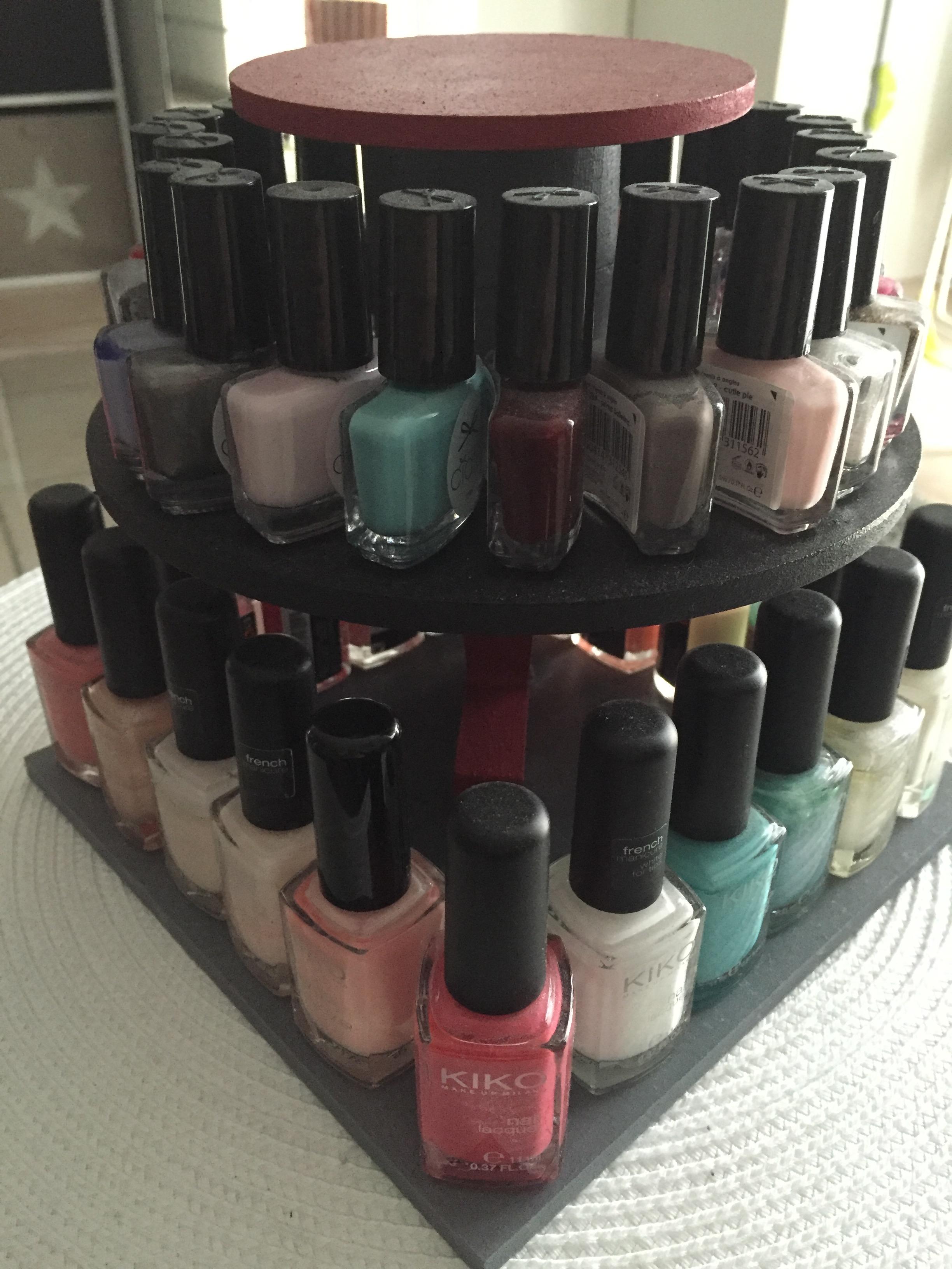 diy 1 rangement pour vernis ongles so 39 makeup. Black Bedroom Furniture Sets. Home Design Ideas