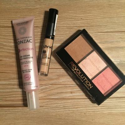 BB crème Jonzac, antiennes NYX, Trio Makeup Revolution