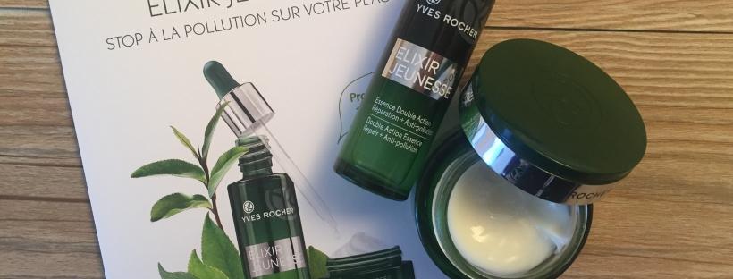 revue de produits la gamme elixir jeunesse anti pollution de yves rocher so 39 makeup. Black Bedroom Furniture Sets. Home Design Ideas