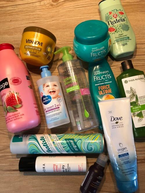 produits terminés gels douche / shampoings
